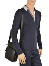 Crossbody Bag Lancaster Black soft vintage homme 320-12-vue-porte