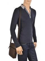 Crossbody Bag Lancaster Brown soft vintage homme 320-14-vue-porte