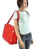 Messenger Bag Le temps des cerises Red rumba LTC476L-vue-porte
