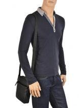 Crossbody Bag Lancaster Black soft vintage homme 320-14-vue-porte