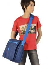 Messenger Bag A4 Kipling Blue back to school 15379-vue-porte