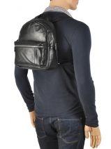 Backpack Arthur et aston Black gabriel 1385-08-vue-porte