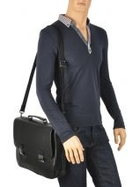 Briefcase 2 Compartments Arthur et aston Black gabriel 1385-17-vue-porte
