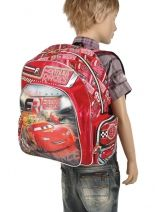 Backpack 1 Compartment Cars Red formula racers 22210-vue-porte