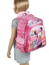 Backpack Minnie Pink little world traveler 36110-vue-porte