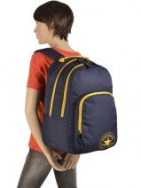 Backpack 2 Compartments Converse Blue allstar PB315430-vue-porte
