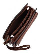 Messenger Bag 2 Compartments Etrier Brown 63011-vue-porte