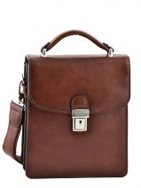 Pochette Homme 2 Compartiments Etrier Marron crosta 63026