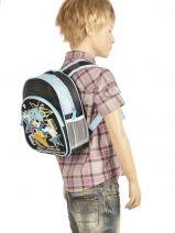 Backpack 1 Compartment Miniprix Black boy 7701-SKA-vue-porte