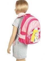 Backpack 2 Compartments Miniprix Pink girl 7710-PRI-vue-porte