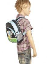 Backpack 2 Compartments Miniprix Blue boy 7710-FOO-vue-porte
