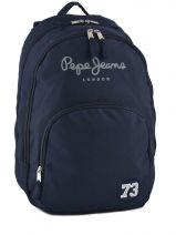 Sac à Dos 2 Compartiments Pepe jeans Bleu 42400 42424
