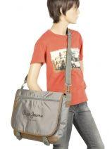 Crossbody Bag A4 Pepe jeans Gray 19100 19150-vue-porte