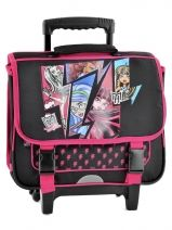Cartable A Roulette 2 Compartiments Monster high Noir black MH238TRO