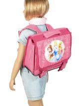 Satchel 1 Compartment Princess Pink flower 1170-vue-porte