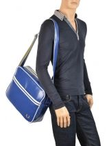 Messenger Bag Fred perry Blue authentic L5251-vue-porte
