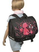 Satchel 2 Compartments Miniprix Black dance 8703-vue-porte