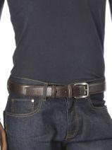 Belt Adjustable Petit prix cuir Brown classic 7617-vue-porte