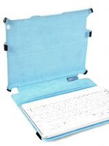 Housse Tablette Ipad Piquadro Noir blue square AC2862B2-vue-porte