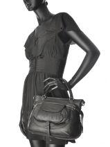 Top Handle Soft Vintage Nova Leather Lancaster Black soft vintage nova 5767-vue-porte