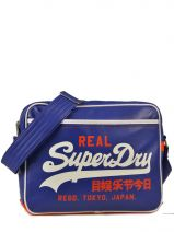 Sac Bandoulière A4 Superdry Bleu alumini U91KC015
