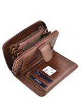 Wallet Leather Spirit Brown medium 6540-vue-porte