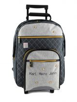 Wheeled Backpack 2 Compartments Karl marc john Gray star 634936