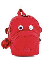 Sac à Dos Mini Kipling Rouge back to school 8568
