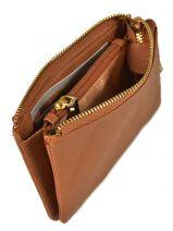 Purse Leather Crinkles Brown 14538-vue-porte