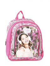 Backpack 1 Compartment Violetta White music PL10VI14