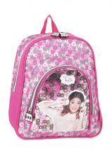 Backpack 2 Compartments Violetta White music PL12VI14