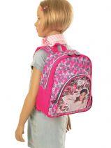 Backpack 2 Compartments Violetta White music PL12VI14-vue-porte