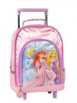 Wheeled Backpack 1 Compartment Princess Pink smile 13611