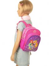 Backpack 1 Compartment Princess Pink true princess 27905-vue-porte