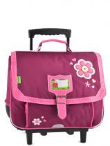 Cartable A Roulettes 2 Compartiments Tann's Violet collector fleur 4FLTCA38