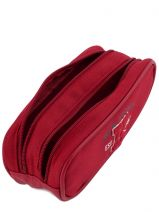 Trousse 2 Compartiments Ikks Rouge american college 4ACT2-vue-porte