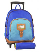 Wheeled Backpack With Free Pencil Case Tann