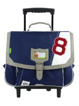 Cartable A Roulettes 2 Compartiments Tann's Bleu collector voile 4VOTCA38