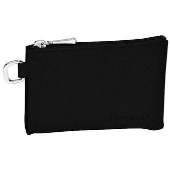 Longchamp Veau foulonné Porte clés Noir