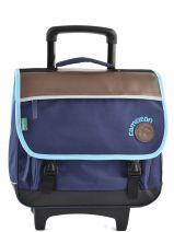 Cartable A Roulettes 2 Compartiments Cameleon Bleu basic boy 15G2CA38