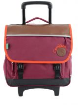 Cartable A Roulettes 2 Compartiments Cameleon Violet basic girl 15F2CA38