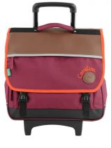 Cartable A Roulettes 3 Compartiments Cameleon Violet basic girl 15F2CA41