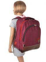 Backpack 2 Compartments Cameleon Violet basic girl 15F-BOR-vue-porte