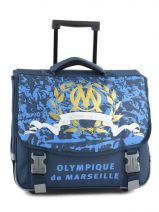 Cartable A Roulettes 2 Compartiments Olympique de marseille Bleu om 153O203R