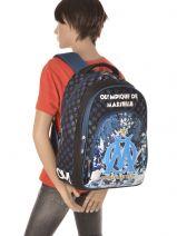 Backpack 2 Compartments Olympique de marseille Blue om 153O204S-vue-porte