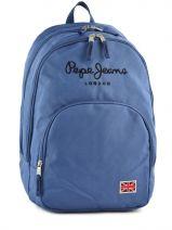 Sac à Dos 2 Compartiments Pepe jeans Bleu plain color blue 60424