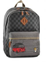 Backpack 2 Compartments Ddp Gray on the road BOR-BO2