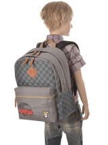 Backpack 2 Compartments Ddp Gray on the road BOR-BO2-vue-porte