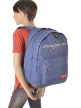 Backpack Diesel Blue sucess DJO12090-vue-porte