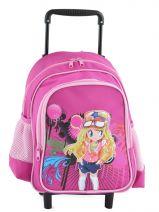 Wheeled Backpack Miniprix Pink girl 8801-2